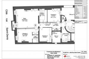 Bd Sebastopol R+4 Côté rue St Denis version 3 chambres
